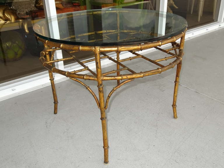 pair gilded faux bamboo tables at 1stdibs