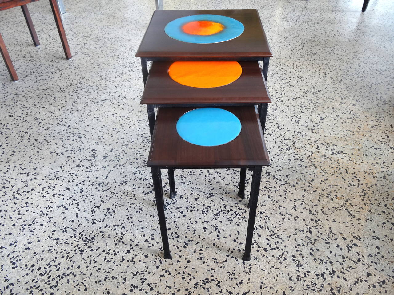 Mid Century Modern Stacking Tables At 1stdibs