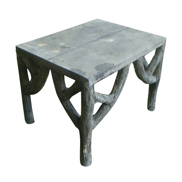Faux Bois Garden Table at 1stdibs