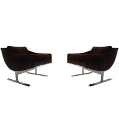 """Pair  """"Arc""""Chairs by Kipp Stewart for Directional"""