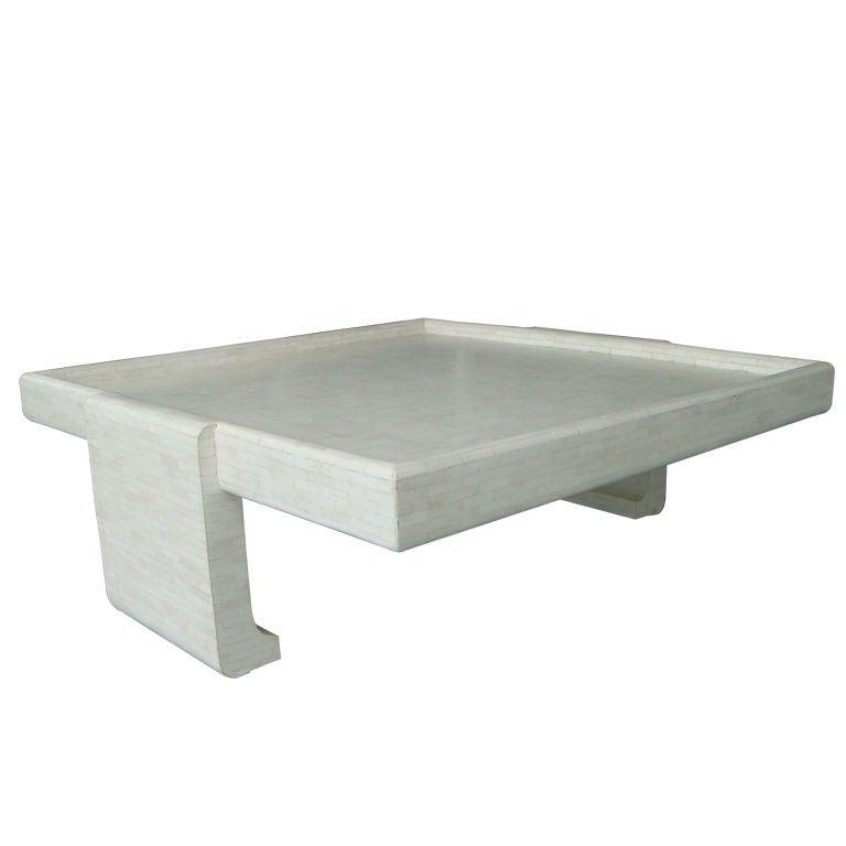 Tesselated Bone Coffee Table At 1stdibs