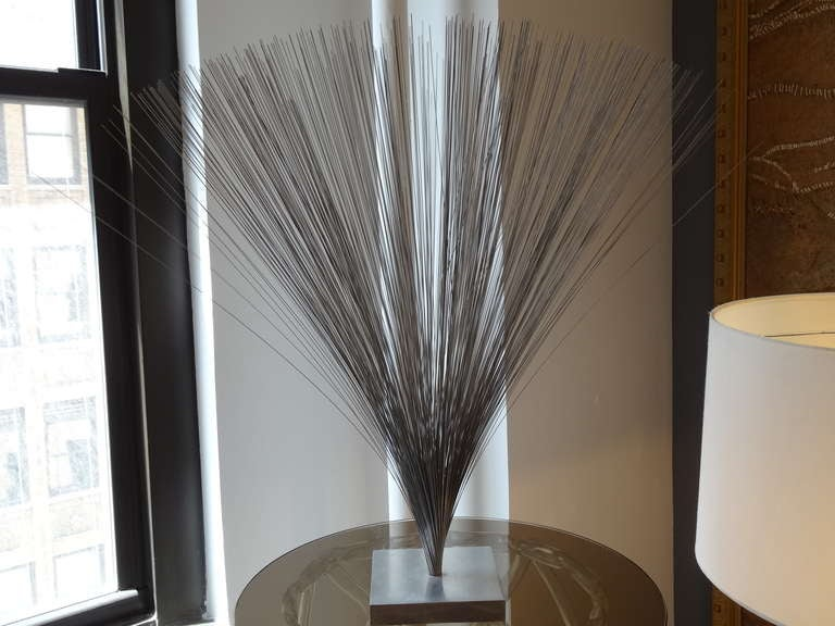 Modern Bertoia Style Sculpture For Sale
