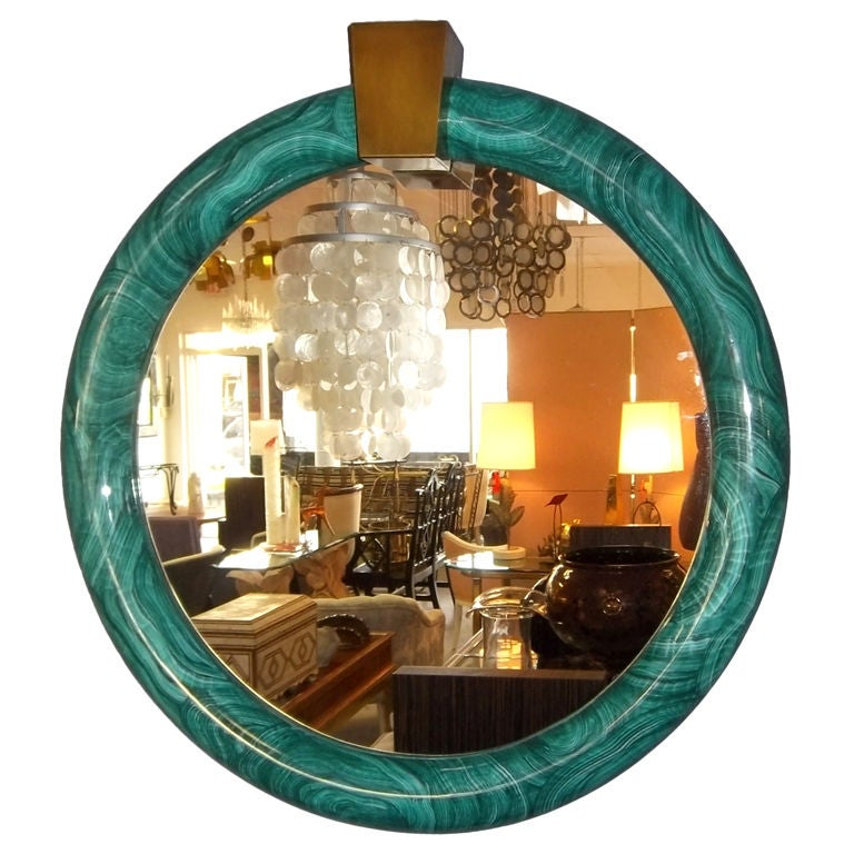 Faux Malachite Mirror