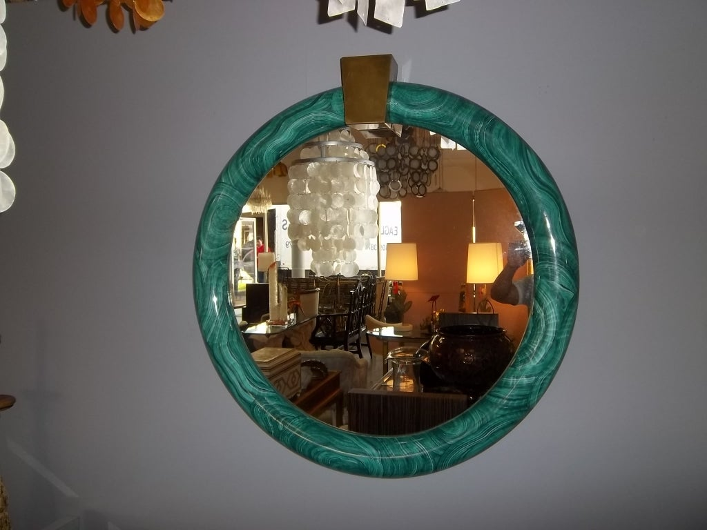 Faux Malachite Mirror  5
