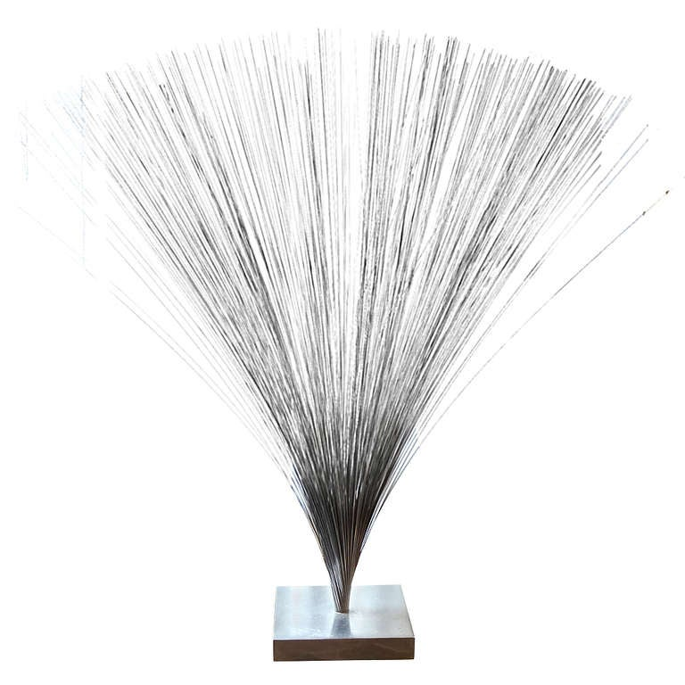 Bertoia Style Sculpture For Sale