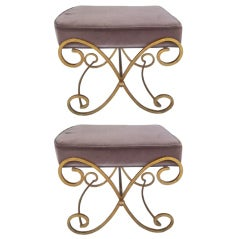Pair Hollywood Regency Benches