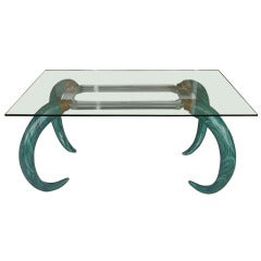 Faux Malachite Tusk Writing Table