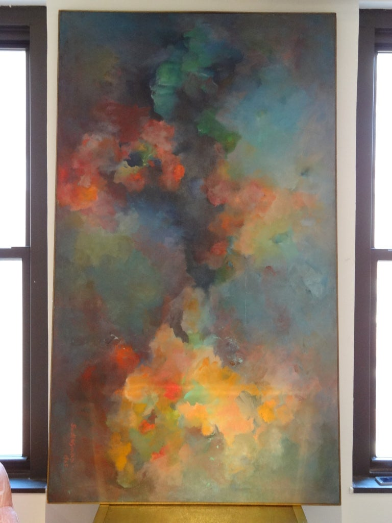 Abstract Painting Signed Gusti Wyman 2