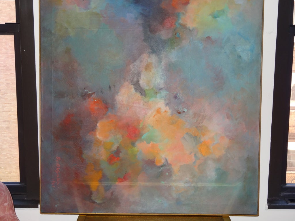 Abstract Painting Signed Gusti Wyman For Sale 1