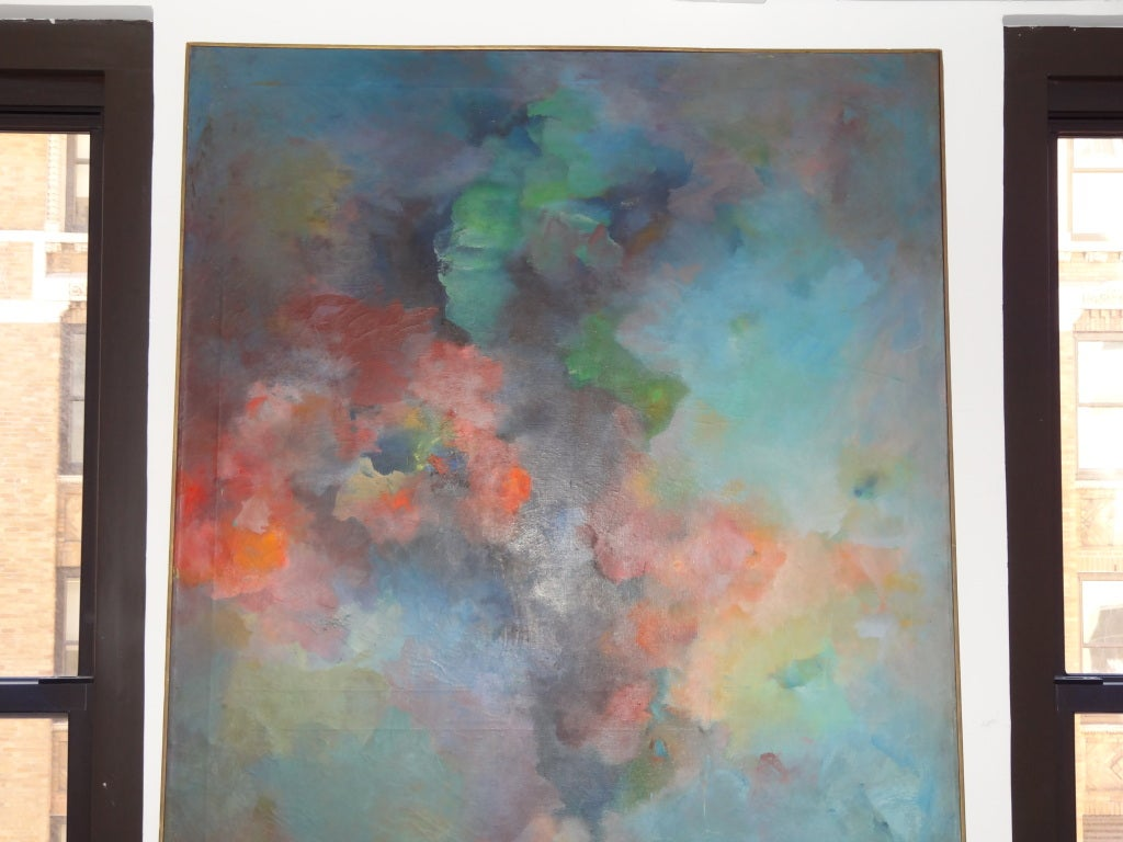 Abstract Painting Signed Gusti Wyman For Sale 2