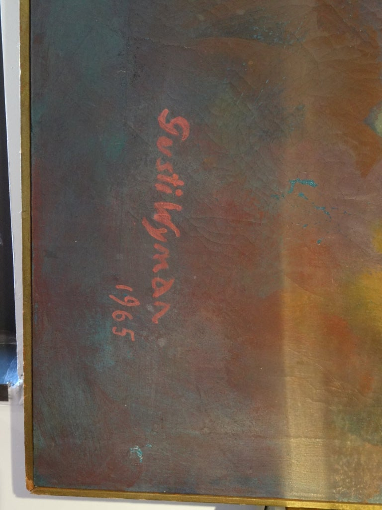 Abstract Painting Signed Gusti Wyman For Sale 3