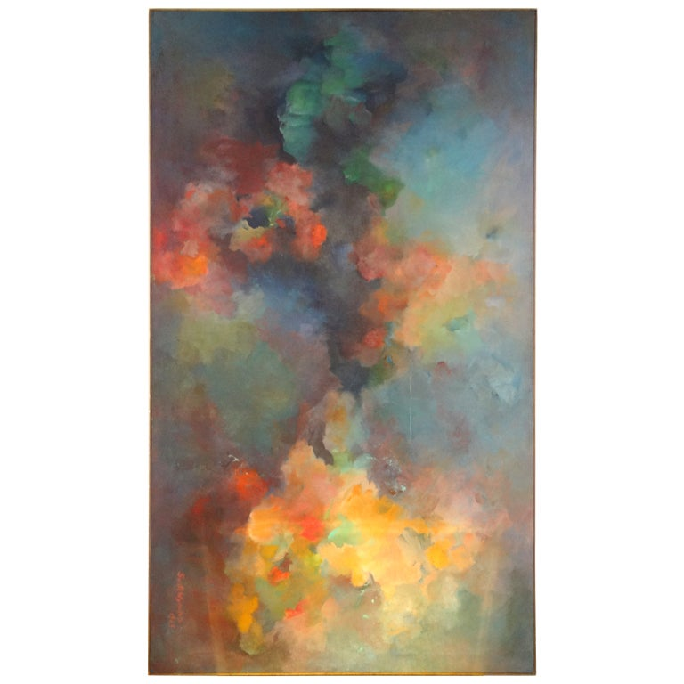 Abstract Painting Signed Gusti Wyman 1