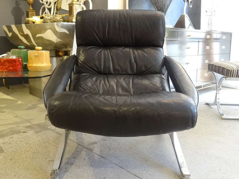 Midcentury Chair with Ottoman 6