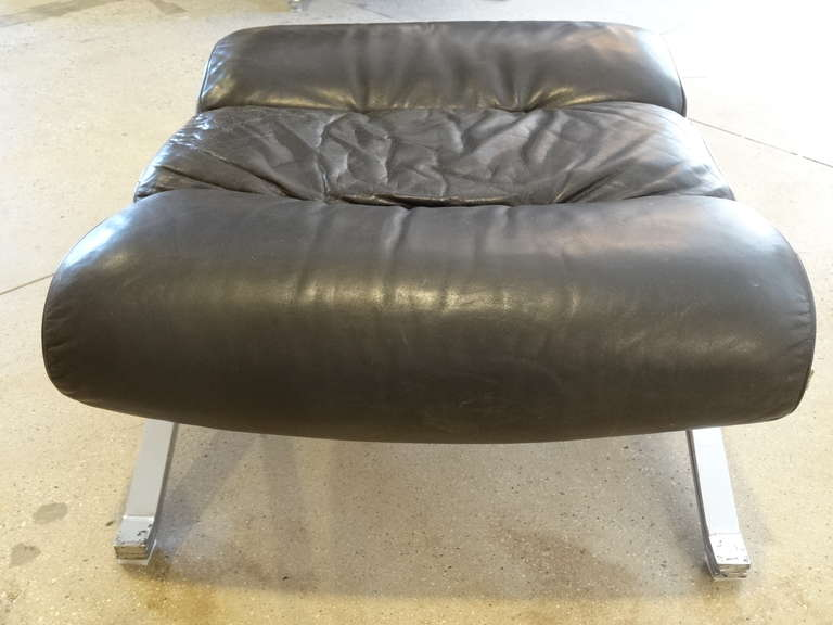 Midcentury Chair with Ottoman 10