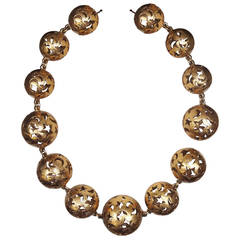 """Yves Saint Laurent """"Moons and Stars"""" Necklace"""
