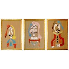 Trio of Surrealism Paintings