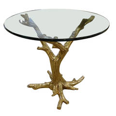 """Brass Center Table in form of """"Tree"""""""