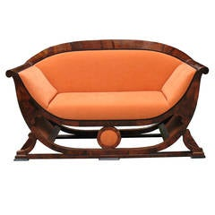 Modern Design 1820s Biedermeier Sofa by Josef Danhauser