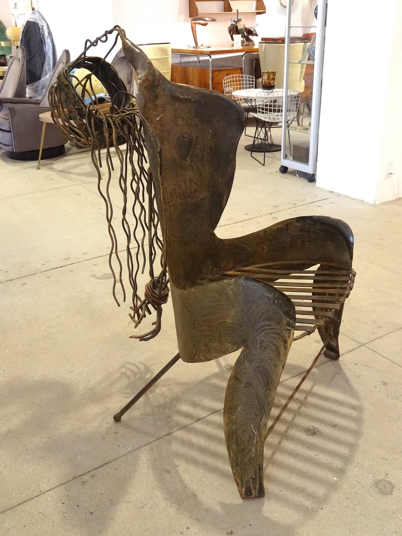 Studio Produced Welded Metal Chair At 1stdibs