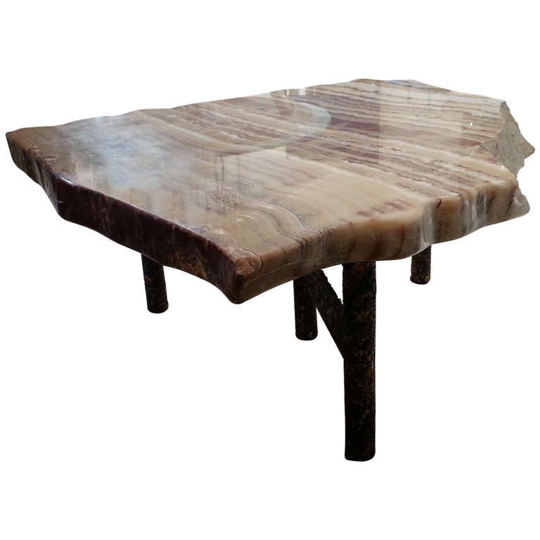Onyx And Giltmetal Coffee Table At 1stdibs