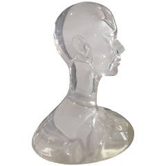 Lucite Bust, 1980s