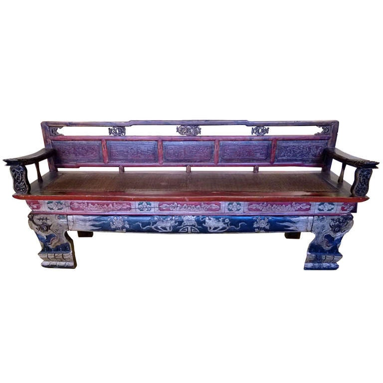 Asian Bench At 1stdibs