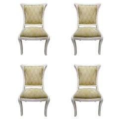 4 Tessellated Bone Chairs