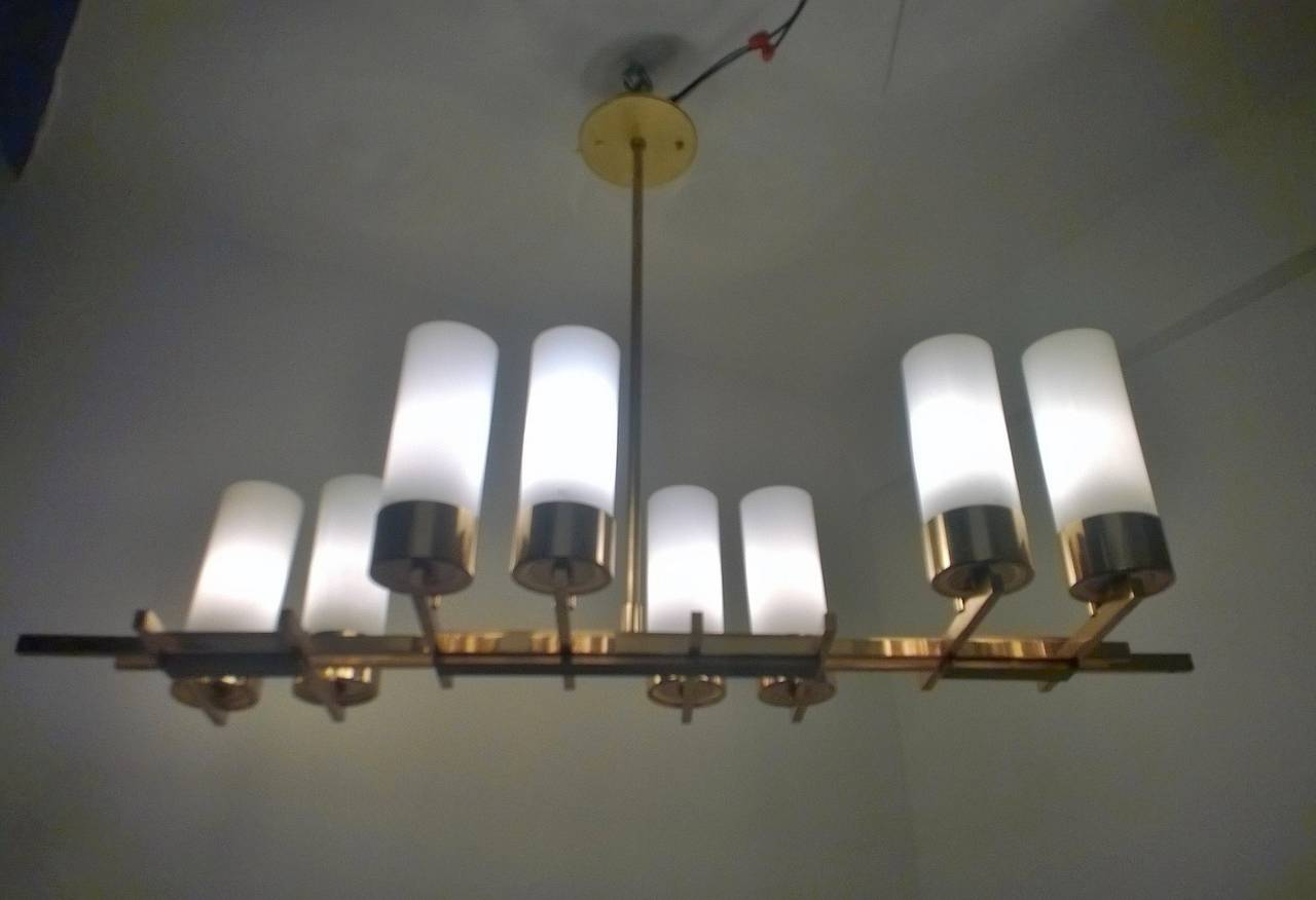 French 1960s Modernist Chandelier For Sale 1