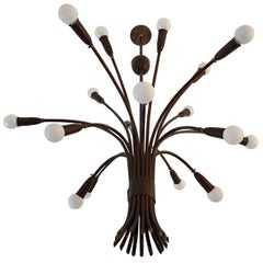 Italian 1950s Bouquet Sputnik by Lumi