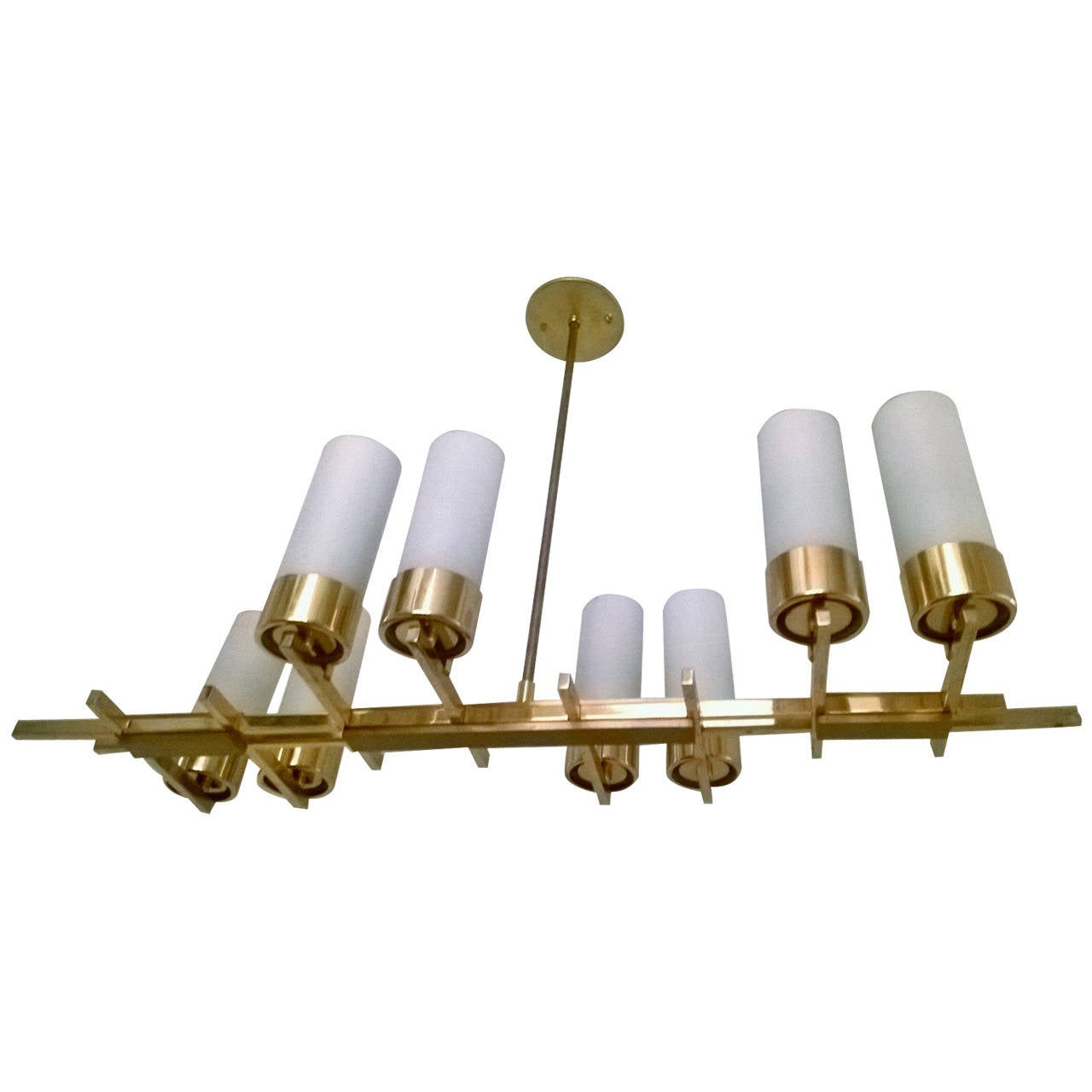 French 1960s Modernist Chandelier