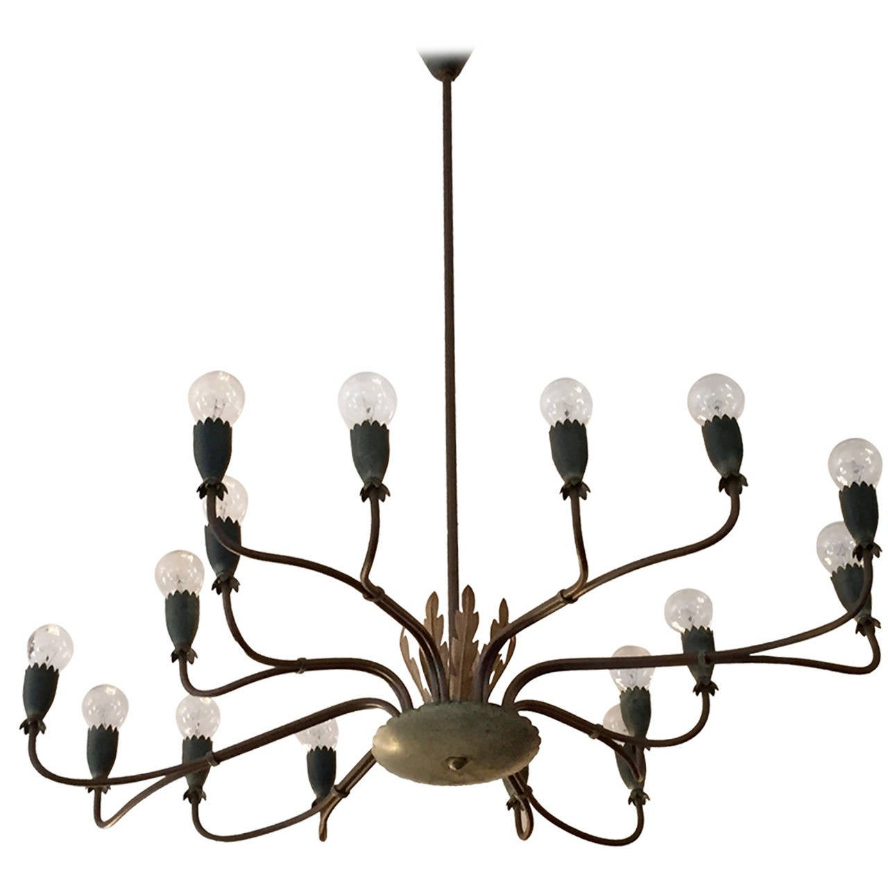 1940s Italian Chandelier For Sale at 1stdibs