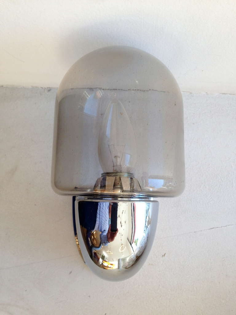 Pair of German Space Age Wall LIghts at 1stdibs