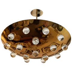 French 1960s Pendant Flush Light