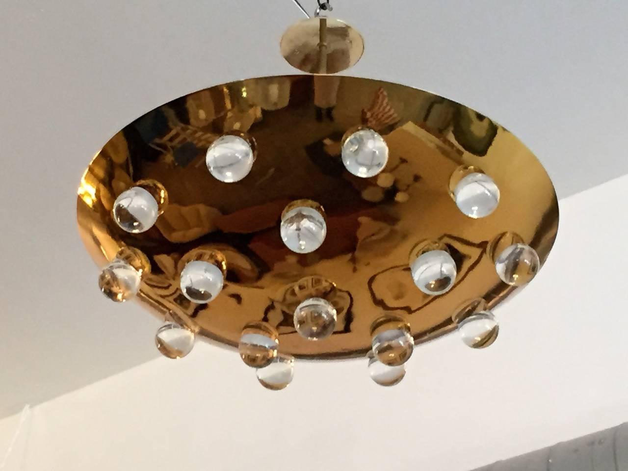 French 1960s Pendant Flush Light 2