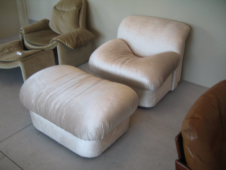 "1980s ""High Style""  Chair and Ottoman 4"