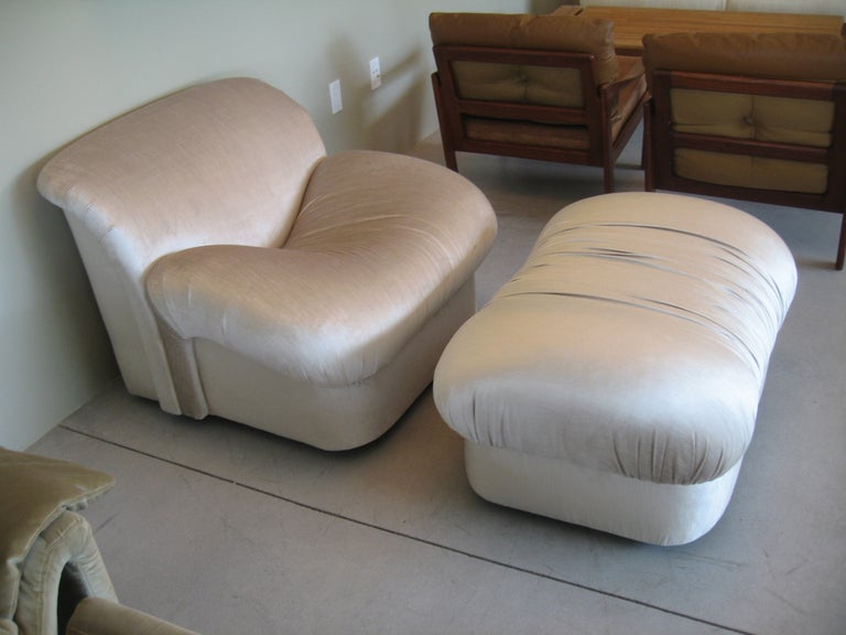 "1980s ""High Style""  Chair and Ottoman 5"