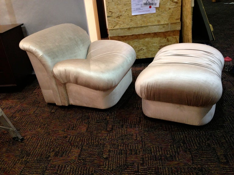 "1980s ""High Style""  Chair and Ottoman 2"