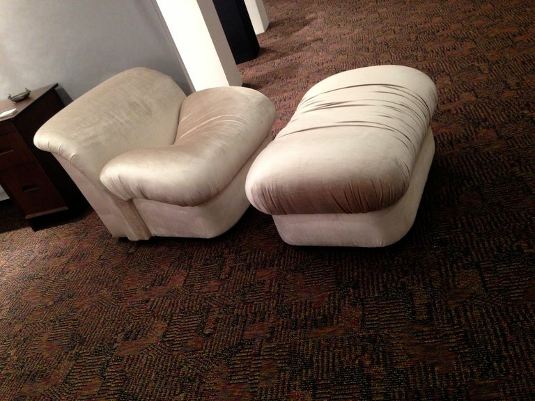 "1980s ""High Style""  Chair and Ottoman 3"