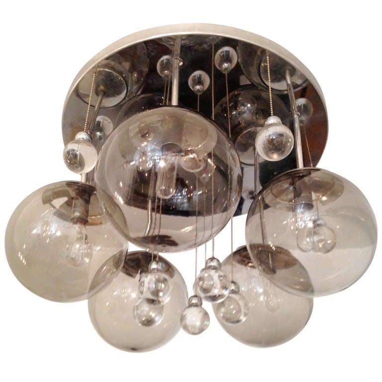 Sciolari Space Age 70s Flush Light Pendant At 1stdibs
