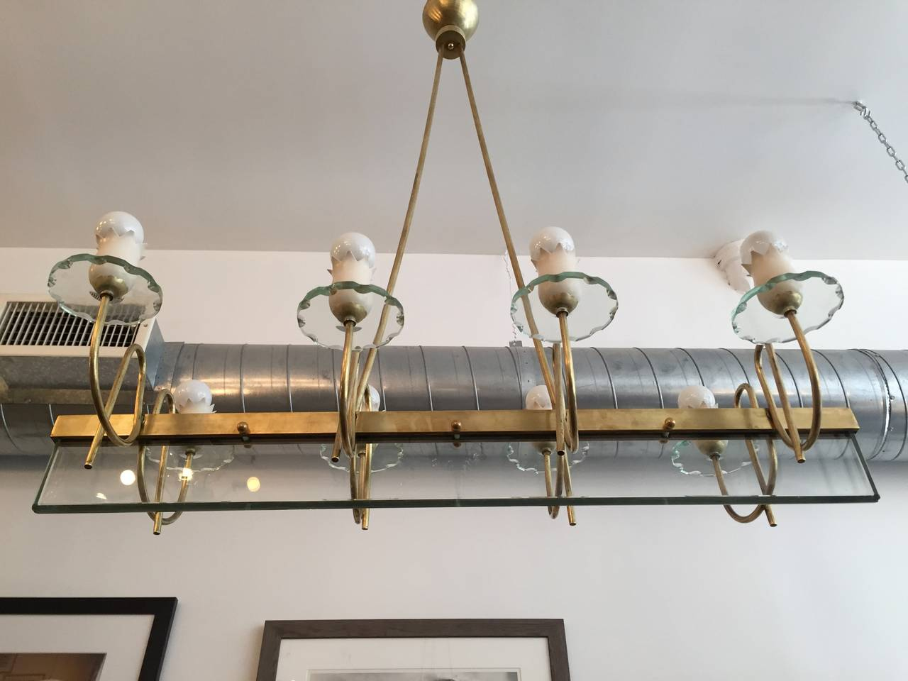 Large Italian Mid Century Chandelier For Sale At 1stdibs