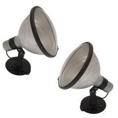 Pair of American Industrial Directional Wall Lights