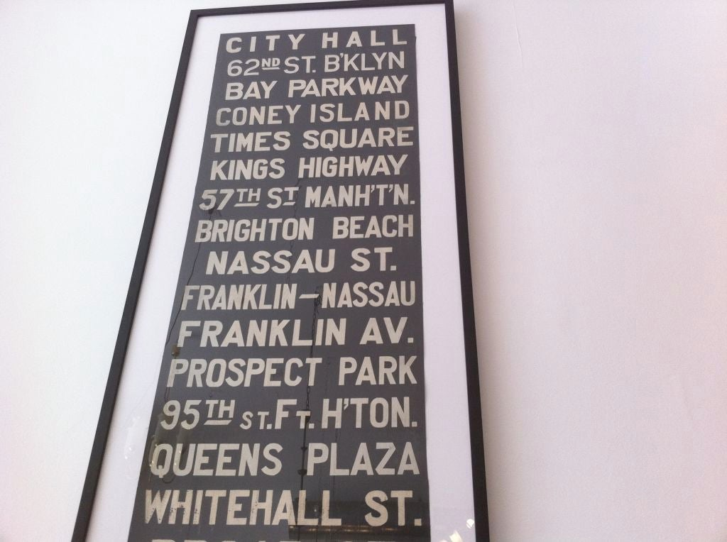 Very Large Original Early New York Subway Sign image 5