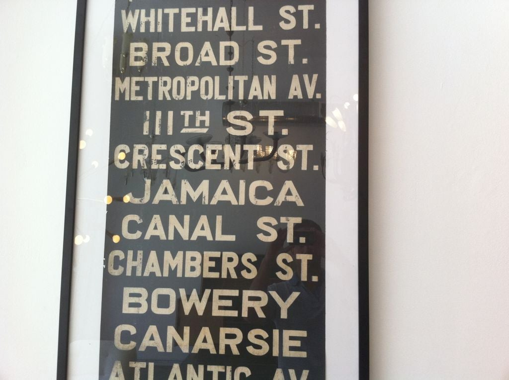 Very Large Original Early New York Subway Sign image 6