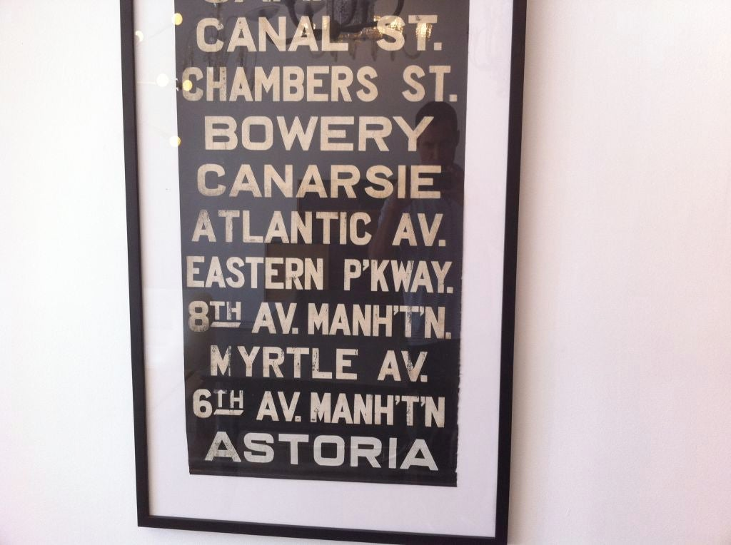 Very Large Original Early New York Subway Sign image 7