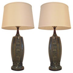 Pair of 1940s Ceramic Table Lamps