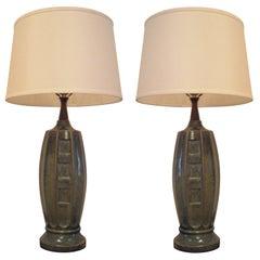 Pair of 1940s Ceramic Table Lamps