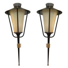 Pair of French Arlus 1950s Wall Lights