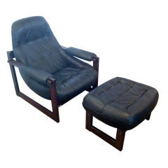 Brazilian Lounge Chair and Ottoman