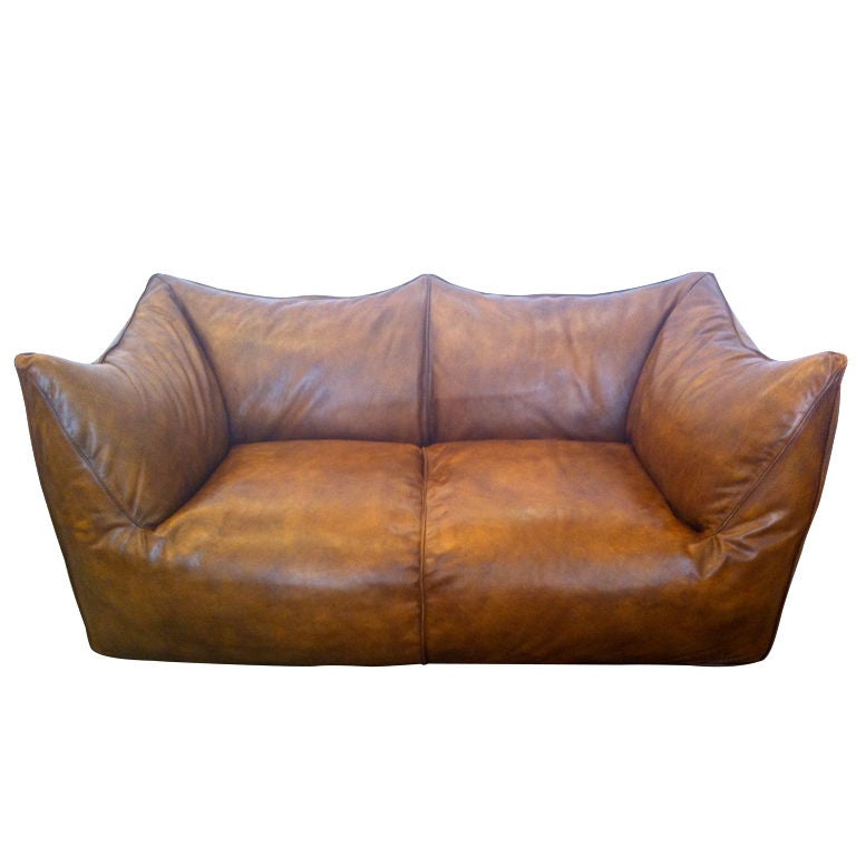 mario bellini leather le bambole sofa at 1stdibs. Black Bedroom Furniture Sets. Home Design Ideas