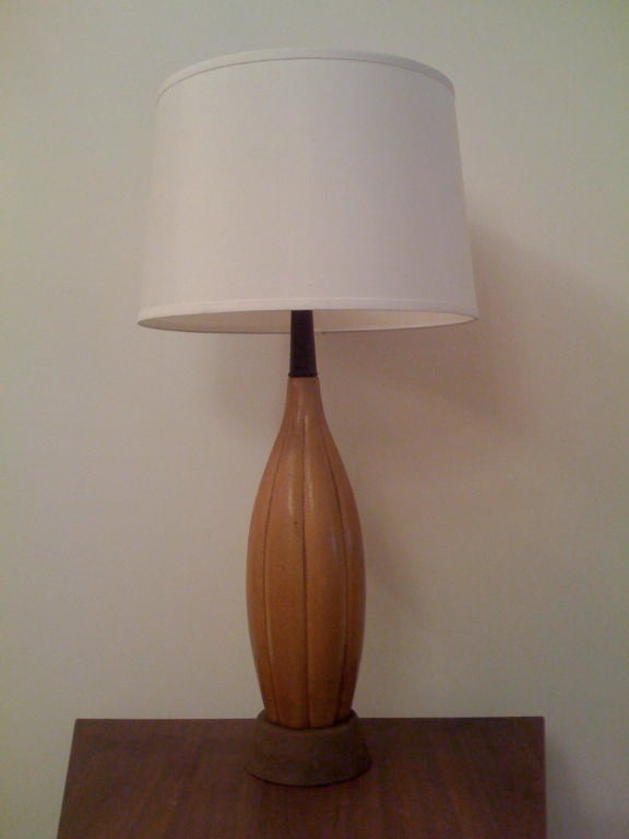 one ceramic gourd table lamp for sale at 1stdibs. Black Bedroom Furniture Sets. Home Design Ideas